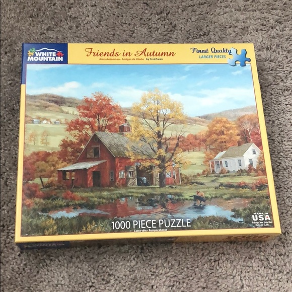 1000 pc puzzle by White Mountain Friends in Autumn